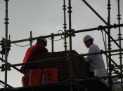 Crew Working on Masonry Repointing