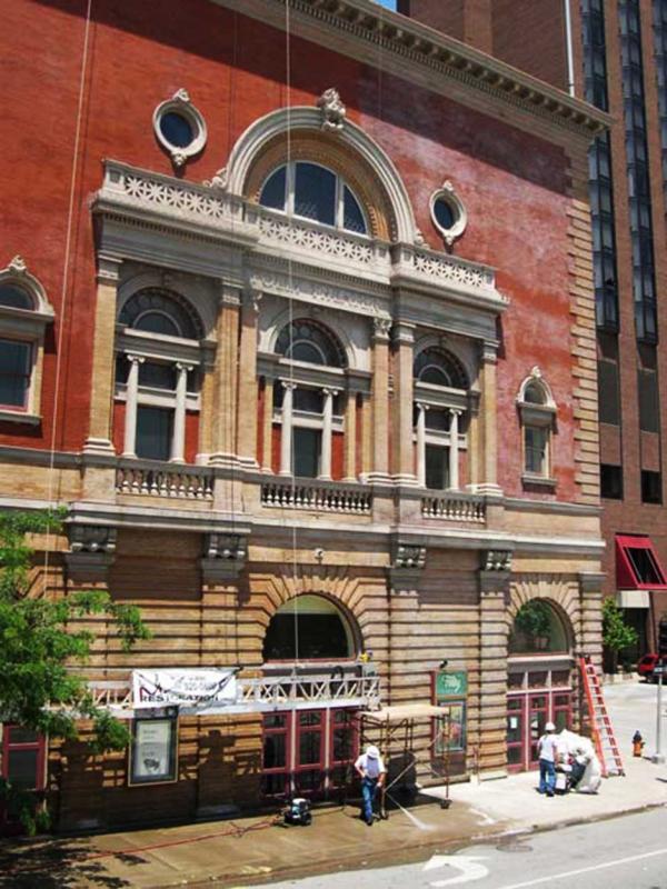 Brick Building Restoration on Folly Theatre