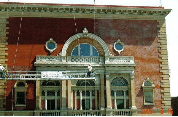 Commercial Masonry Cleaning for Folly Theatre