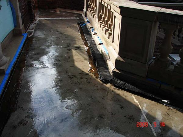 Plaza Deck Waterproofing Membrane Preparation