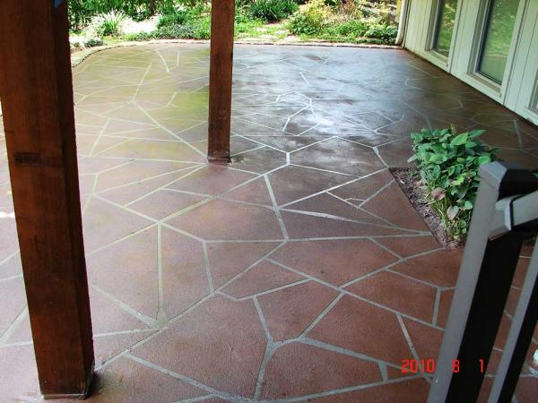 Decorative Coatings on a Patio