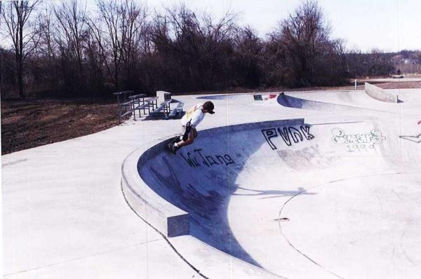Skateboarder at a Skate Park