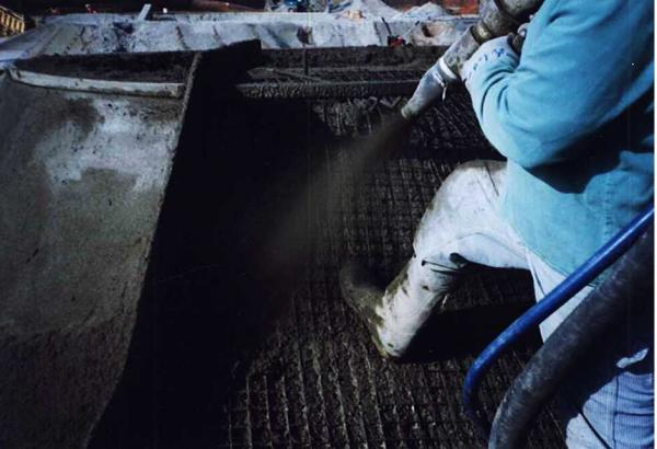 Dry Process Gunite Installation