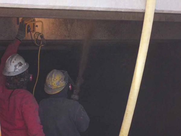 Crew Workers Using Dry Process Gunite