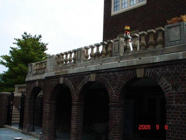 C&M Restoration Rebuilt the Stone Railings