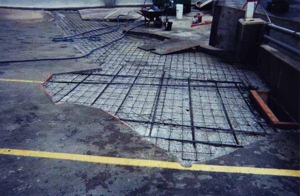 Commercial Concrete Restoration on a Parking Lot